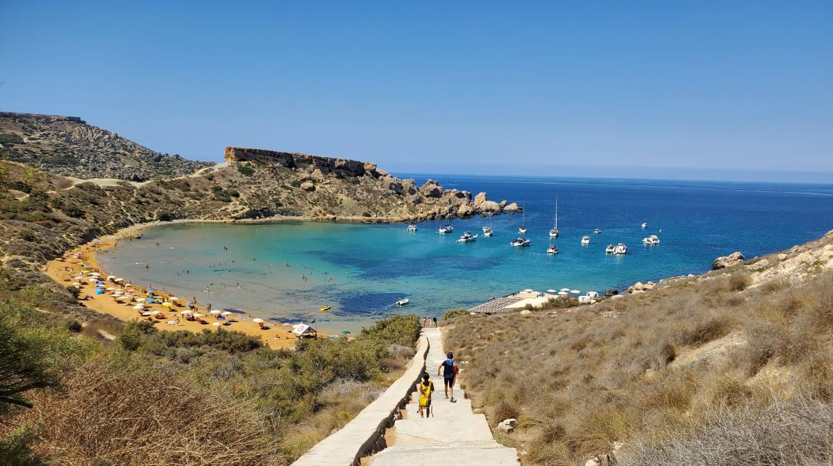 Homokos tengerpart Máltán
